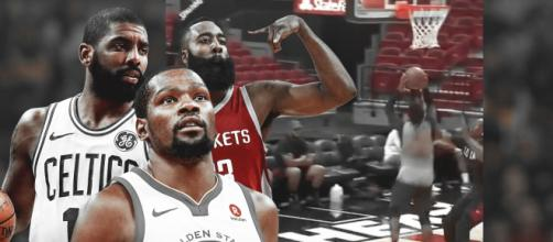 Heat video: Kyrie Irving, Kevin Durant e James Harden.