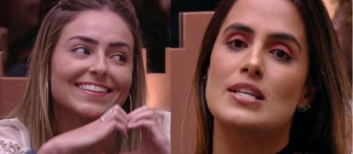 Paula e Carol disputam último Paredão do BBB19. (Reprodução/TV Globo)