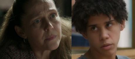 Judith e Feijão em 'O Sétimo Guardião' (Reprodução/TV Globo)
