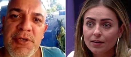 Pai da participante Hariany desabafa após a expulsão da filha do BBB19. (Reprodução/Facebook/José de Mesquita Souza/Gshow).
