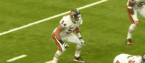 Brian Urlacher was inducted into the Hall of Fame in 2018. [Image Source: Flickr | william.montross]