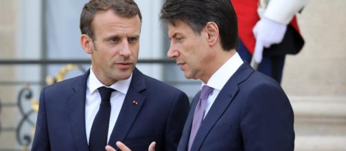 Macron e Conte a colloquio. foto repertorio - rssing.com