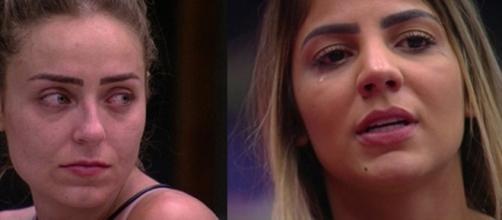 Na reta final do programa, Paula lamenta pela expulsão de Hariany e afirma que ajudará a amiga. (Reprodução/Rede Globo)