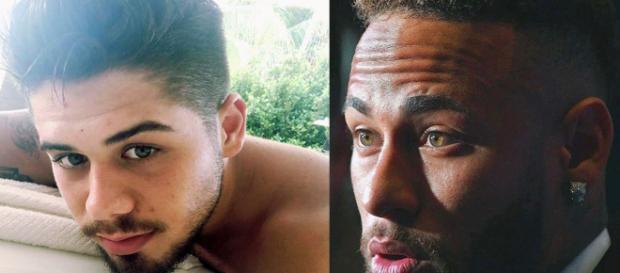 """Neymar comparitlhou um """"TBT"""" ao lado de Isabella Arantes. (Reprodução/Instagram/@zefelipecantor/@neymarjr)"""