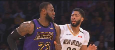 The Lakers failed to get LeBron and Anthony Davis together in the 2018-19 NBA season. - [NBA / YouTube screencap]
