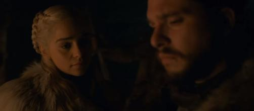 Emilia Clarke and Kit Harington are the leading characters of 'Game of Thrones'. Photo: screencap via GameofThrones/ YouTube