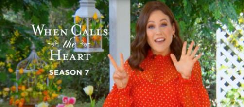 Erin Krakow brought the news 'When Calls the Heart' fans were counting on this weekend. - [Hallmark Channel / YouTube screencap]