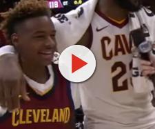 LeBron James and son. - [ESPN / YouTube screencap]