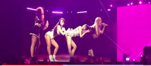 Blackpink at Coachella Weekend 1 April 12, 2019. [Image source/sergery102 YouTube video]