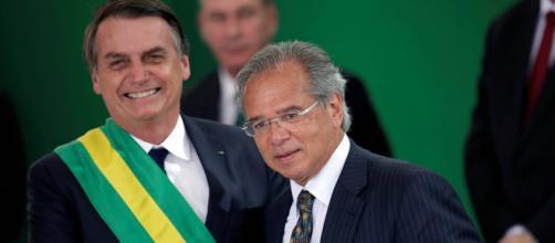 Presidente Jair Bolsonaro e o ministro da Economia, Paulo Guedes. (Arquivo Balasting News)