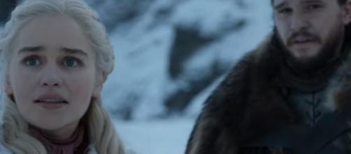 Jon Snow and Daenerys Targaryen rode the dragons together. Photo: screencap via GameofThrones/ YouTube