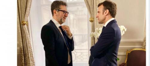 Matteo Salvini e Giorgia Meloni all'attacco di Fabio Fazio e di Macron