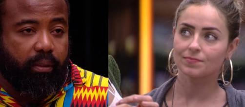 Rodrigo e Paula não tinham muita afinidade dentro do reality show. (Reprodução/TV Globo)