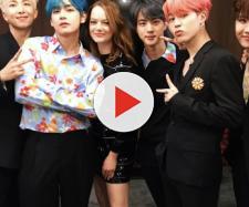 Grupo sul-coreano se apresentou no 'Saturday Night Live'. (Reprodução/Twitter/@bighitent)
