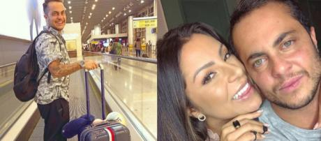 Thammy Miranda se mostrou empolgado ao embarcar com a esposa para os EUA. (Reprodução/Instagram@thammymiranda).