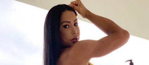 A morena ainda teve a oportunidade de conhecer seu ídolo da musculação. (Reprodução/Instagram/@graoficial)
