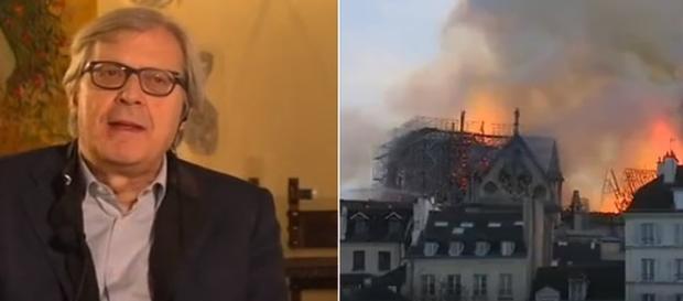 Vittorio Sgarbi non fa drammi per l'incendio di Notre-Dame