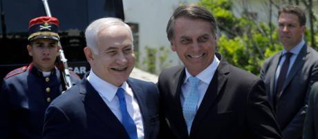 Binyamin Netanyahu y Jair Bolsonaro, cuando el Primer Ministro invitó al Presidente a apoyarlo electoralmente.