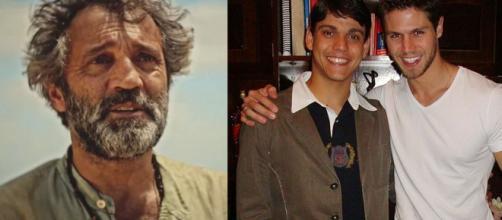 Domingos Montagner, Rafael Noronha e Jonas H Sulzbach. (Reprodução/TV Globo/Instagram/@jonas.mbt)