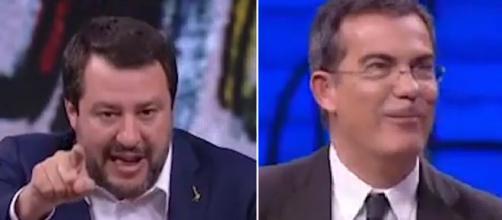 Floris replica a Salvini in tv: 'Delinquenti? Un po' come quando ti votano' (VIDEO)