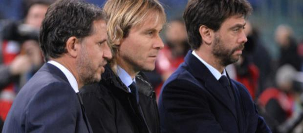 Fabio Paratici, Pavel Nedved, Andrea Agnelli (foto: Panorama)