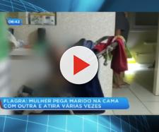 O bebê começou a chorar após a mulher ter realizado os disparos. (Reprodução/R7)
