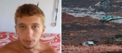 Após ser dado como desaparecido em Brumadinho, o jovem entrou em contato com a família. (Reprodução/Arquivo Pessoal/TV Globo)