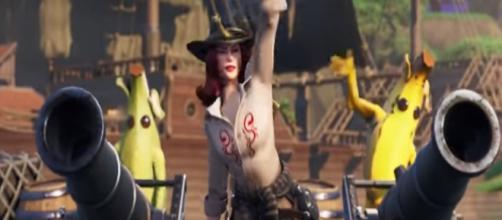 Battle Pass action on 'Fortnite.' - [Fortnite / YouTube screencap]