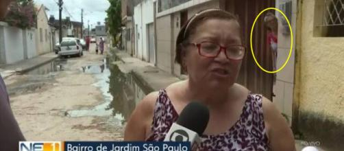 Entrevista seguiu após o fato inusitado. (Reprodução/ TV Globo Recife)
