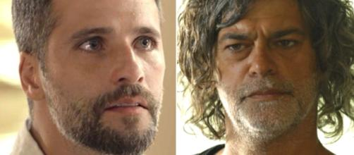 Gabriel e Murilo se estranham durante discussão. (Divulgação/Rede Globo)
