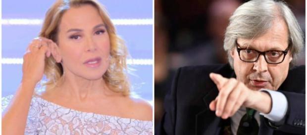 Barbara D'Urso umiliata da Sgarbi in diretta tv.