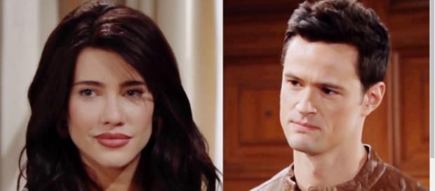 Thomas and Steffy are plotting to break up Liam and Hope. - [CBS / YouTube screencap]