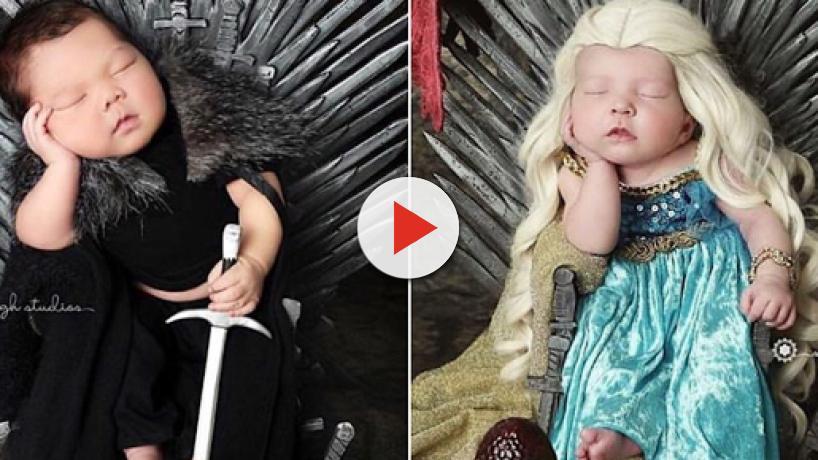 'Game of Thrones' inspira ensaio fotográfico, e bebês posam como personagens da série