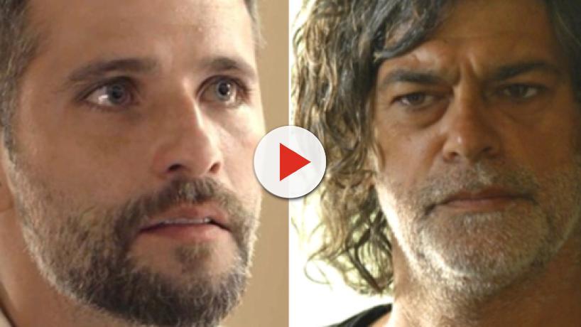 Em 'O Sétimo Guardião', Gabriel confronta Murilo e o acusa de traição: 'você quer me dar um golpe'
