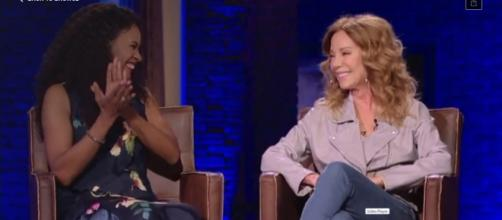 Nicole C. Mullen and Kathie Lee Gifford share the meaning and the relevant message in The God Who Sees. [Image source:TBN-YouTube]