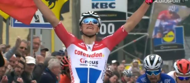 Mathieu Van der Poel, la vittoria alla Freccia del Brabante.