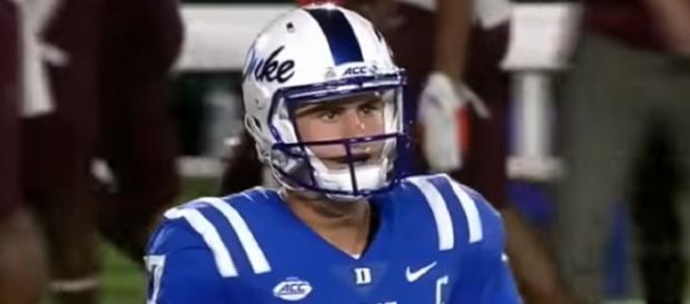 The Patriots could take Duke's Daniel Jones in the first round. - [Stadium / YouTube screencap