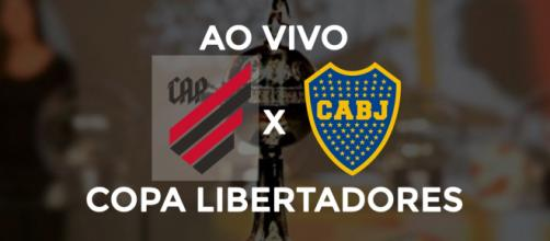 Athletico-PR x Boca Juniors ao vivo. (Foto: Arte/ Diogo Marcondes)