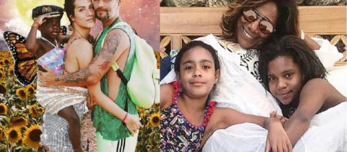 Assim como Bruno Gagliasso,Giovanna Ewbank, Gloria Maria recorreu a adoção (Divulgação/Instagram/@brunogagliasso/@gloriamariareal)