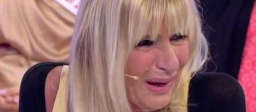 GemmaGalgani che piange, durante una puntata del Trono Over