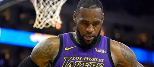 The Lakers' LeBron James was amongst several members of the team with a close relationship with Nipsey Hussle. [Image via NBA/YouTube]