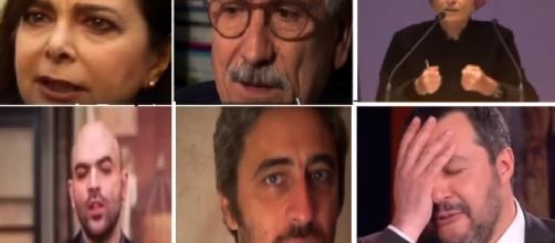 Una clip con un minuto di insulti per Salvini