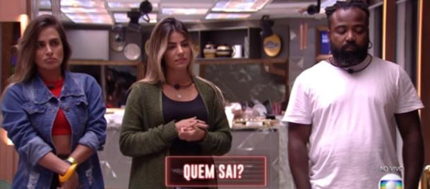 Carol, Hary e Rodrigo estão no paredão. (Reprodução/Rede Globo)