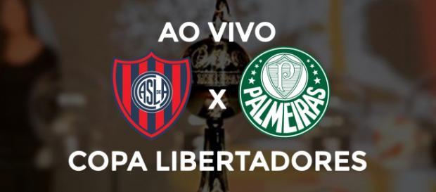 San Lorenzo x Palmeiras ao vivo (montagem Diogo Marcondes)