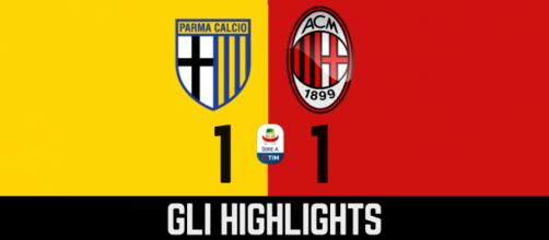 Gli highlights di Parma - Milan
