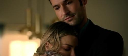 Lucifer hugs Chloe image via LiraxEdits/YouTube screencap