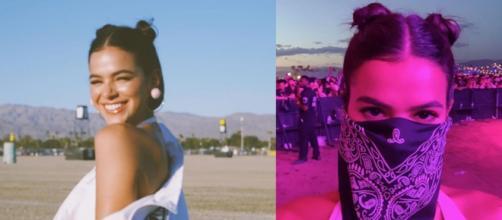 """A atriz postou fotos com looks arrojados durante o festival """"Coachella"""". (Reprodução/Instagram@brunamarquezine)"""