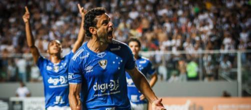 Fred comemora o gol do título. (Divulgação/ Vinnícius Silva / Cruzeiro)