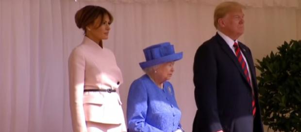 President Trump meets Britain's queen, July 2018. [Image source/Washington Post YouTube video]