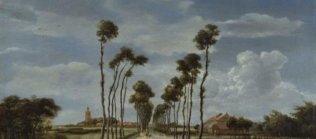 The Avenue, Middleharnis by Meindert Hobbema [Image source: National Gallery of London]